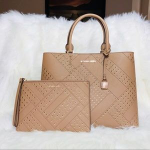 Michael Kors Adele Tote with Wallet Clutch